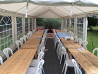 Garden marquee furniture hire in Sawtry, Cambridgeshire