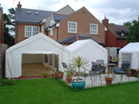 Garden marquee hire in Sawtry, Cambridgeshire