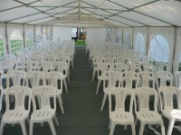 Theatre style seating in 6m wide marquee