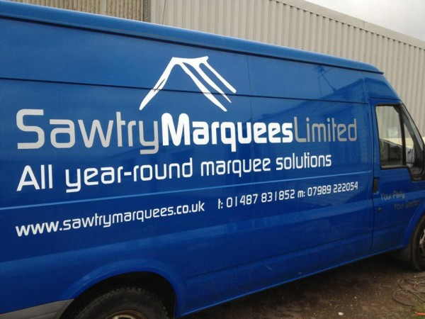 Sawtry Marquee hire delivery van