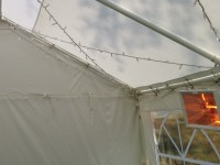 Pole Heater in 3m wide marquee