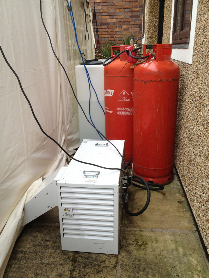 Heating options sawtry marquees for Heating options