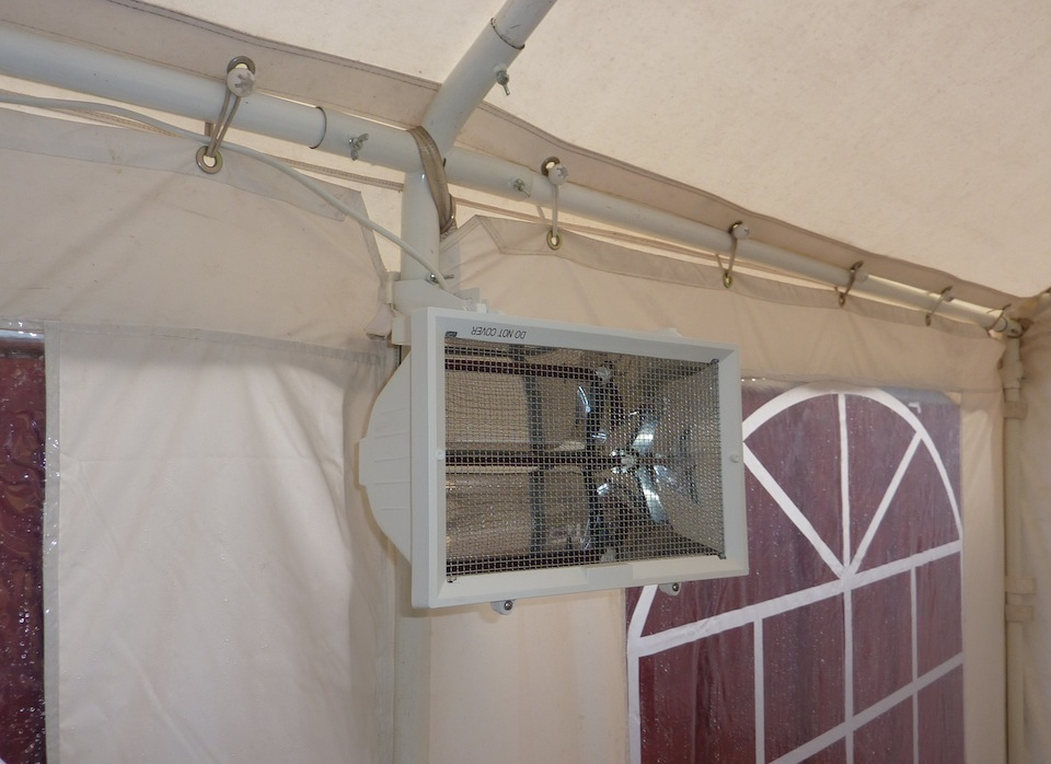 Sawtry Marquees : Heating Options Sawtry Marquees