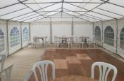 6m x 8m marquee inside view