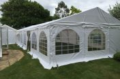 6m x 8m marquees joined to make 6m x 16m - First image