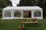 6m x 8m marquee outside view