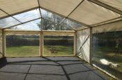 6m x 9m marquee with Clear roof panel & Panoramic window