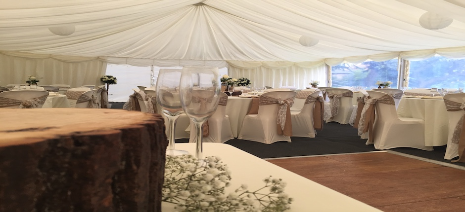 Marquees hire for village events