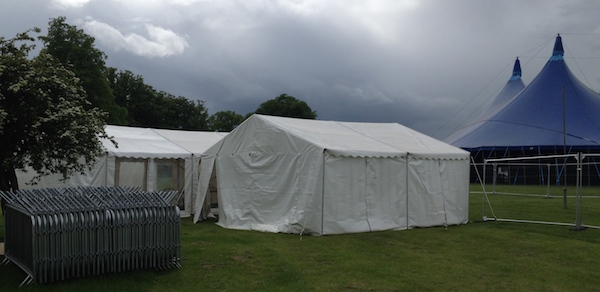 6m x 6m Marquee at the Rat Race Burghley