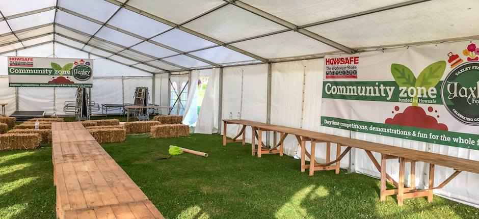 Marquee hire and layout plans for weddings